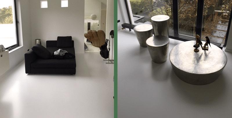 vloeren gietvloeren ruimes woonkamer